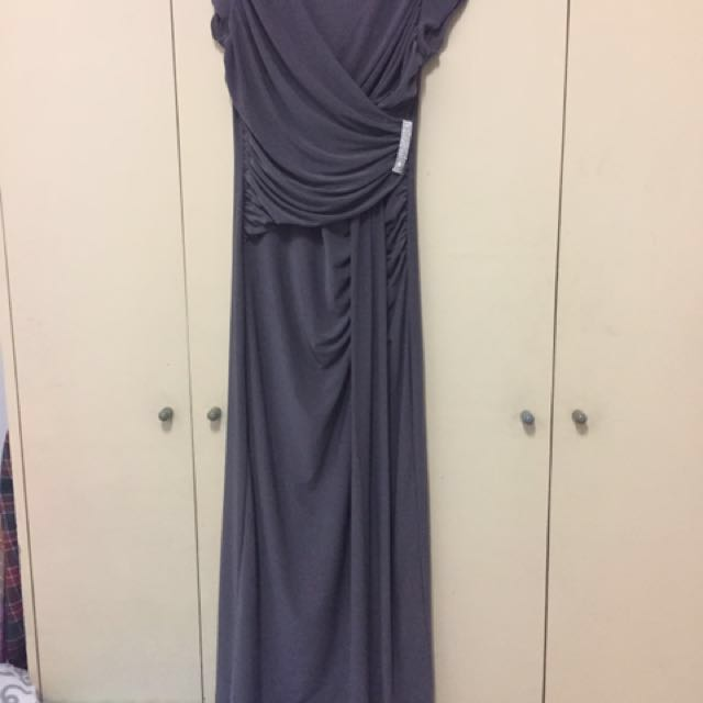 Brand New Gown In Silver Grey