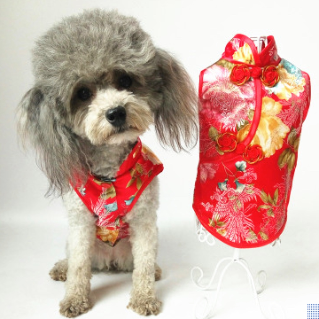 92a6c9bb2012 Brand New Pet Clothing ~ Chinese New Year 2018 Dog and Cat Cheongsam ...