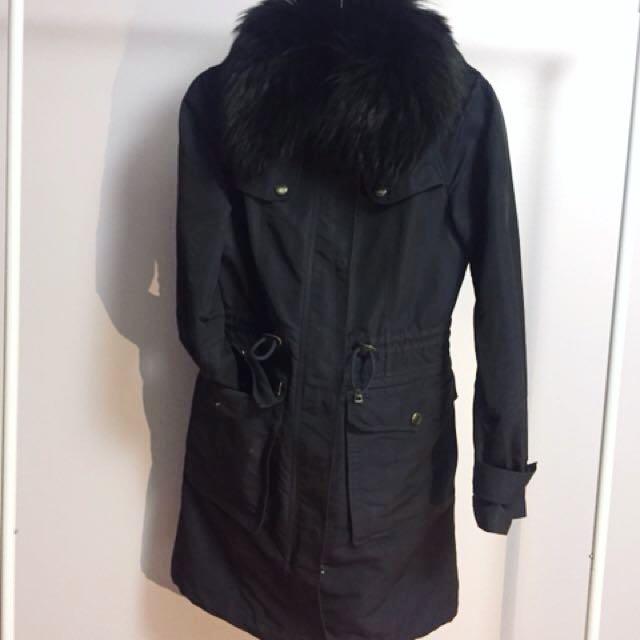 Burberry Brit Rain Trench w Fur