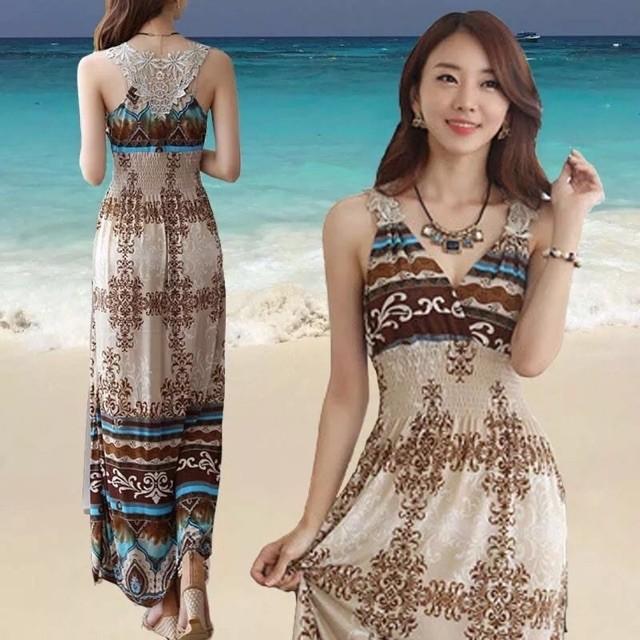 Women fashion casual bohemia short sleaves dress