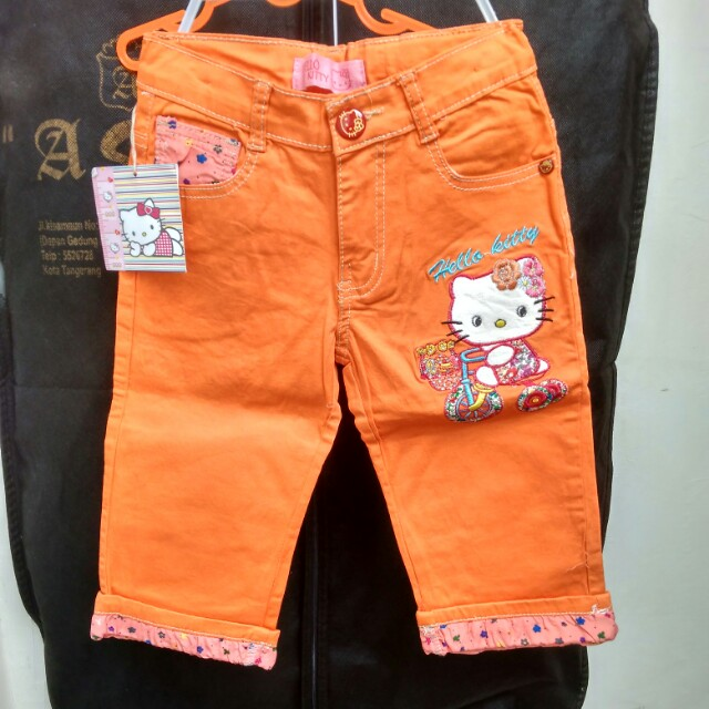 Celana import hello kitty