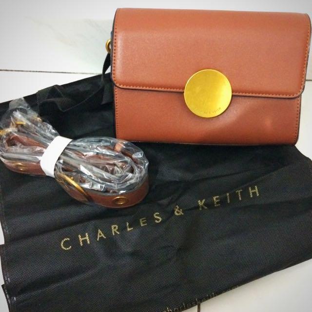 Charles & keith circular buckle bag