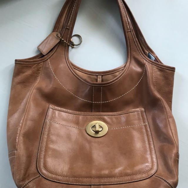Coach Bag Leather Ergo Tote Bag