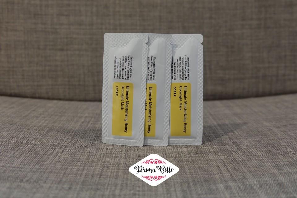 Cosrx Ultimate Moisturizing Honey Overnight Mask Samples