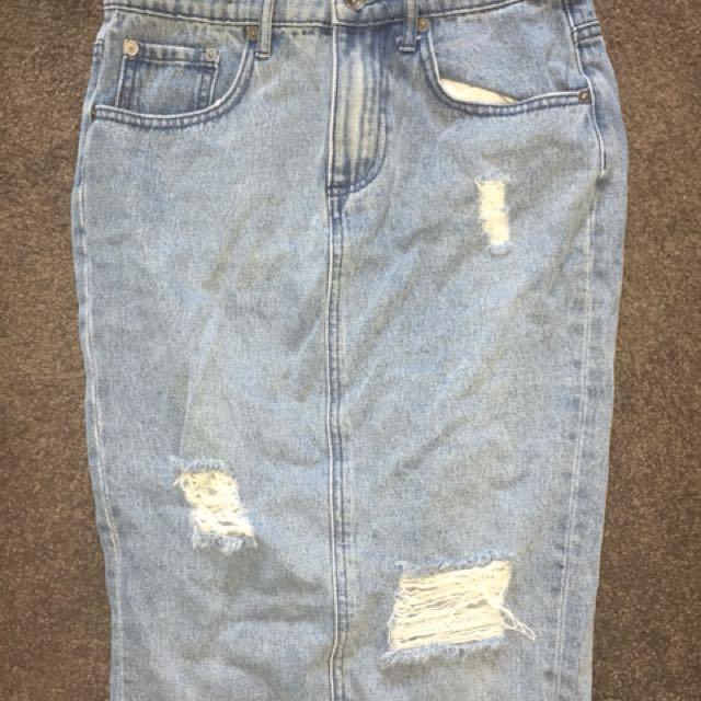 Denim skirt from Seed