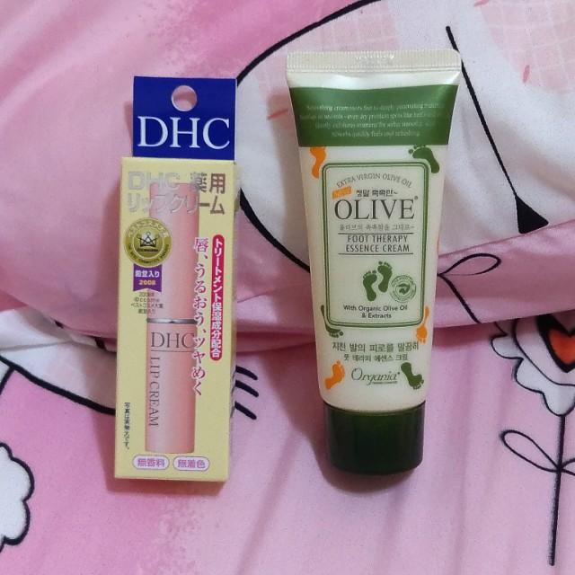 韓國腳霜+日本DHC護脣膏,一組280,不拆賣。