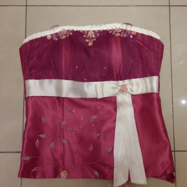 Dress Panjang Pink Fushia