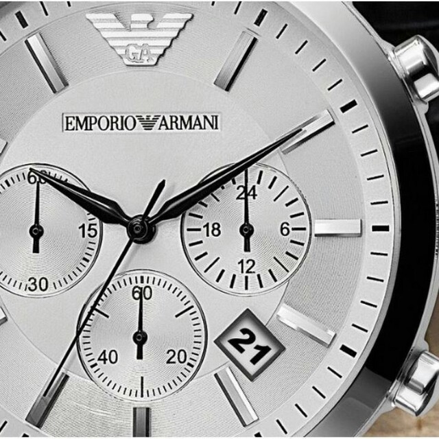 Emporio Armani AR2432 Classic Chronograph Silver Dial Men's Watch, Men's Fashion, Watches on Carousell