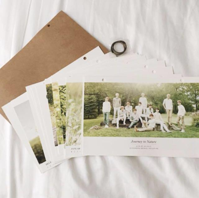 EXO 2014 Nature Republic Calendar & Photobook Booklet