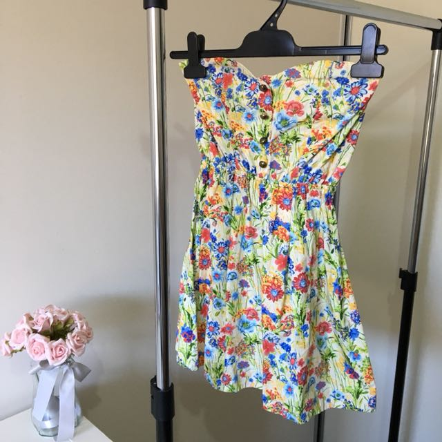 Floral Dress with Buttons