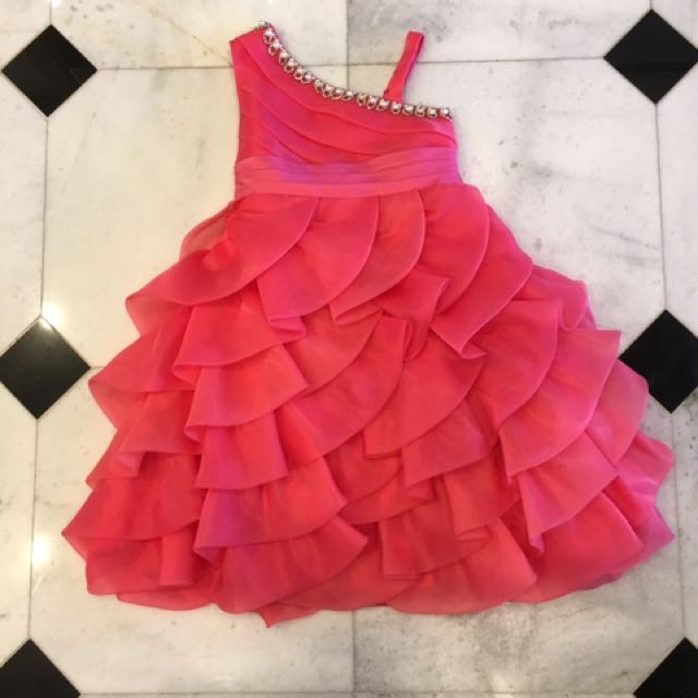 Formal coral coloured size 8 dress with bolero