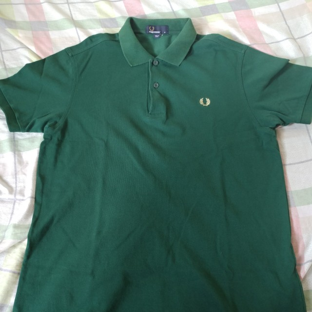 Fred Perry Polo Shirt Green Size M
