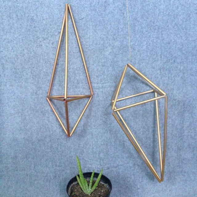 Geometric diy decor
