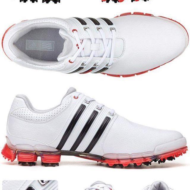 golf高爾夫球用品 愛迪達Adidas男真皮帶釘防水透氣球鞋