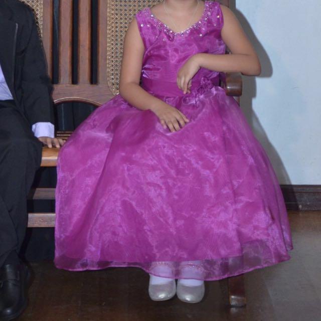 Gown Kids Dress Flower Girl