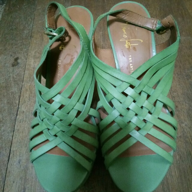 Franco Sarto Green Wedge