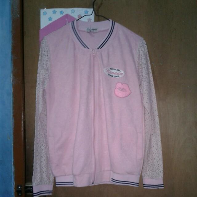 Jaket Pink Brukat