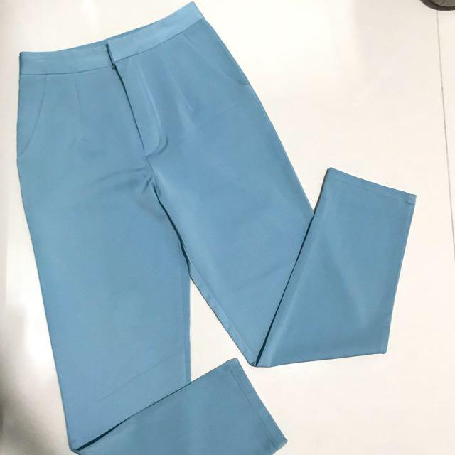 Korean blue pants