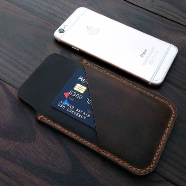 Leather Iphone Case/pouch |crazy Horse Cowhide Leather