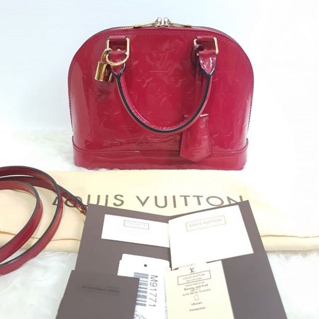 LV ALMA BB ROSE Indien vernis authentic