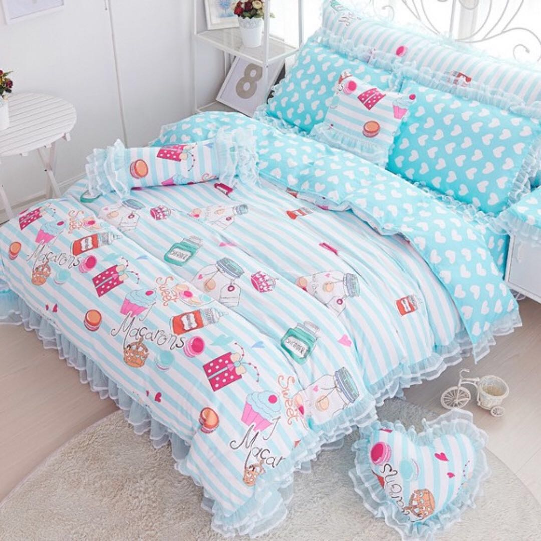 Macarons Doubled Sided Bedding Set