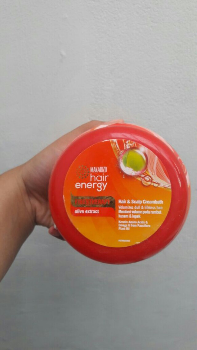 Makarizo Hair Energy Fibertheraphy Olive Creambath Kesehatan Kecantikan Perawatan Rambut Di Carousell