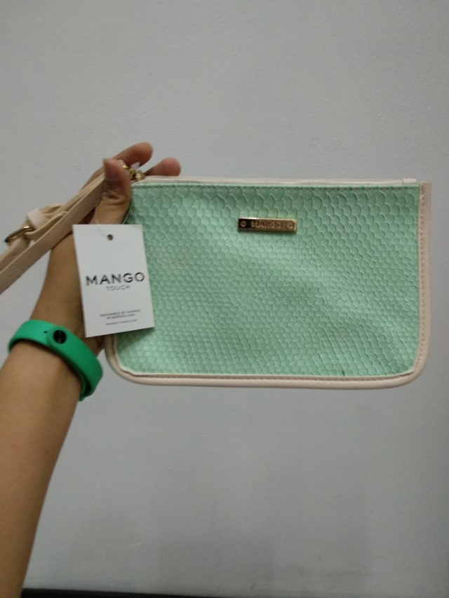Mango Wristlet Pouch Wallet Carrying Strap