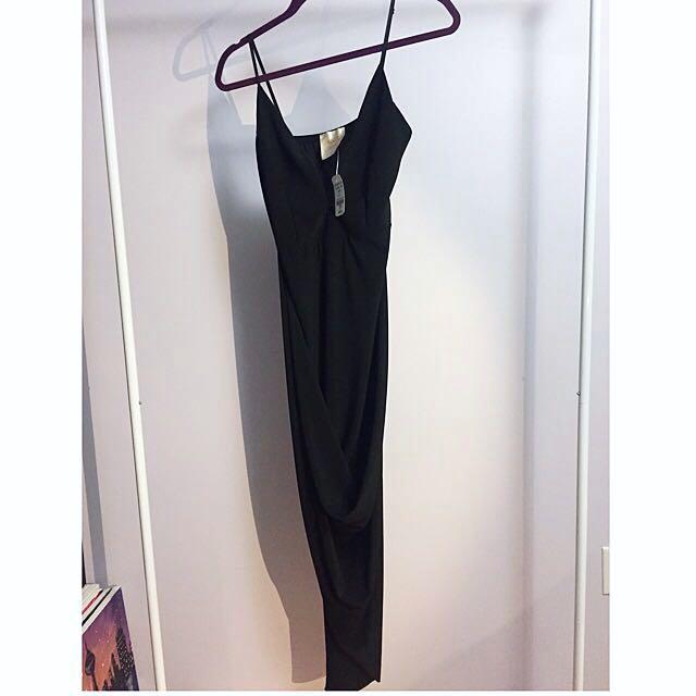 Mendocino black asymmetrical dress