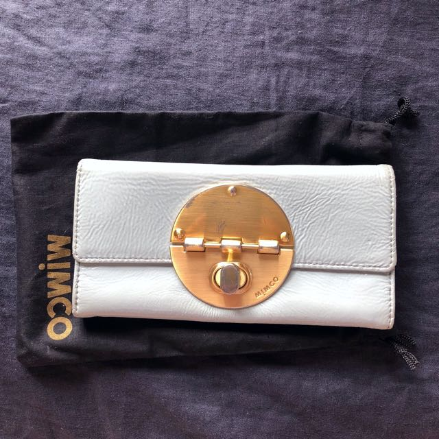 Mimco light blue wallet