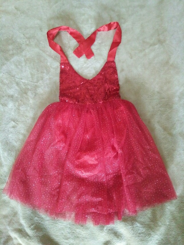 MTO red glittered dress