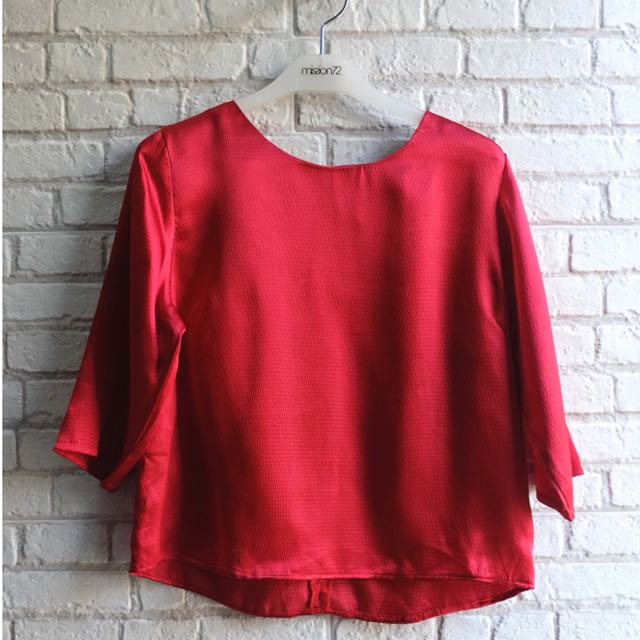 [NEW] Blouse Merah Polos Mission72