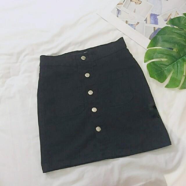 (NEW) Button Denim Skirt #Fesyen50