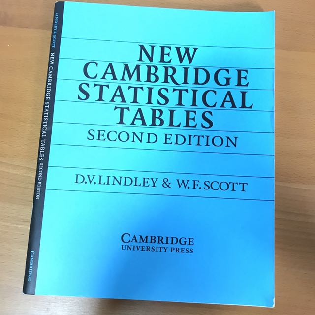 New cambridge statistical tables william f scott ebook array new cambridge statistical tables 2nd edition d v lindley and w f rh sg carousell com fandeluxe Image collections
