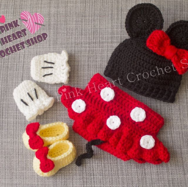 New handmade baby Minnie Mouse outfit