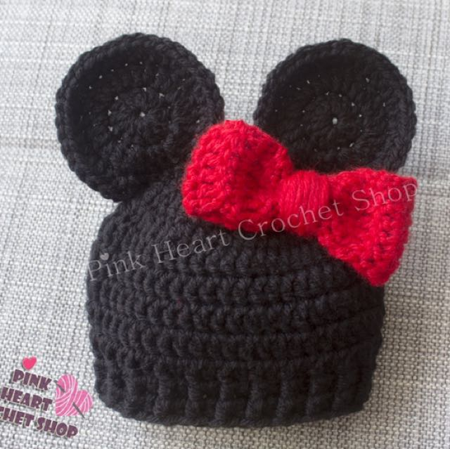 New handmade Minnie Mouse baby hat