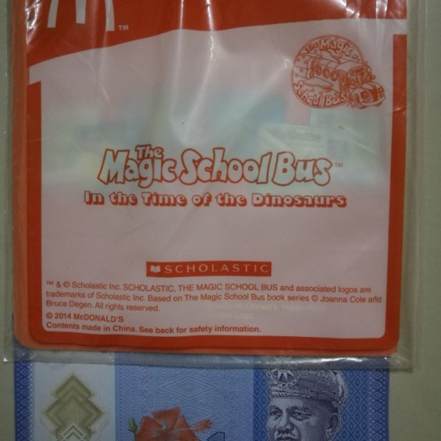 New The Magic School Bus In The Time Of The Dinosaurs Book McDonald's Scholastic