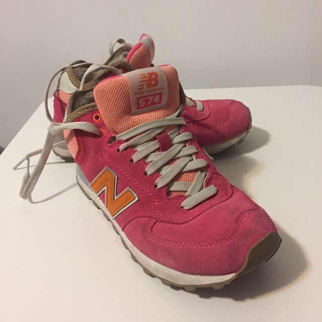 NewBalance粉紅574復古鞋