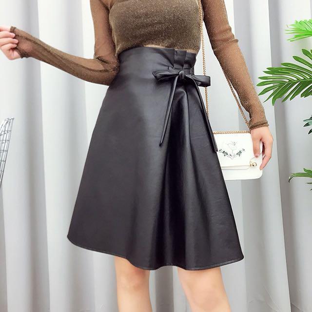 Nial Leather Skirt