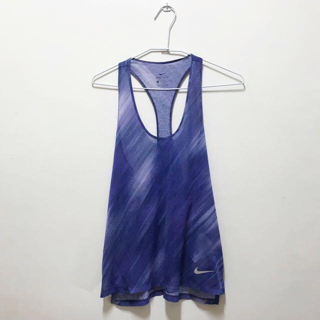 正版Nike/dry-fit藍紫色背心
