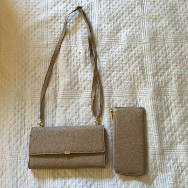 Nude bag with wallet