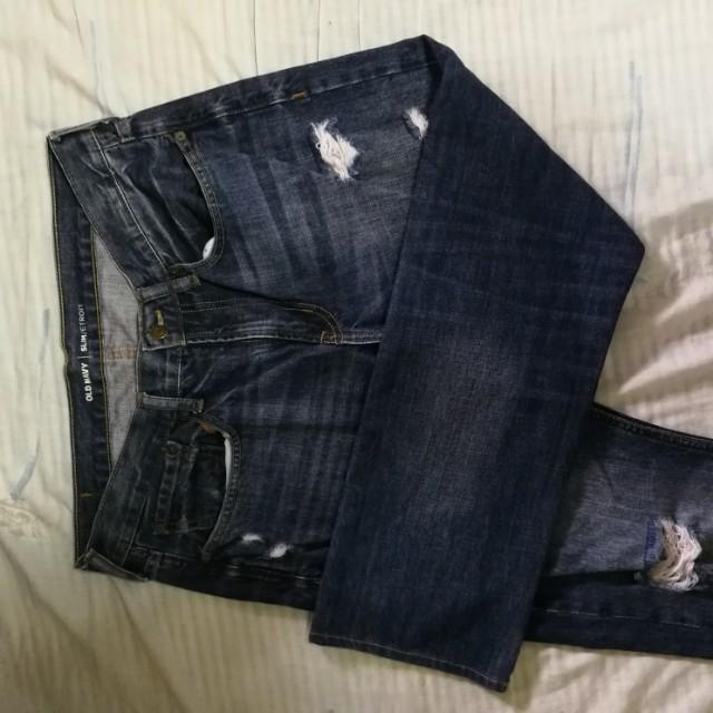 Old navy dark blue denim 34 inches waistline
