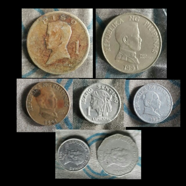 Old php peso coins