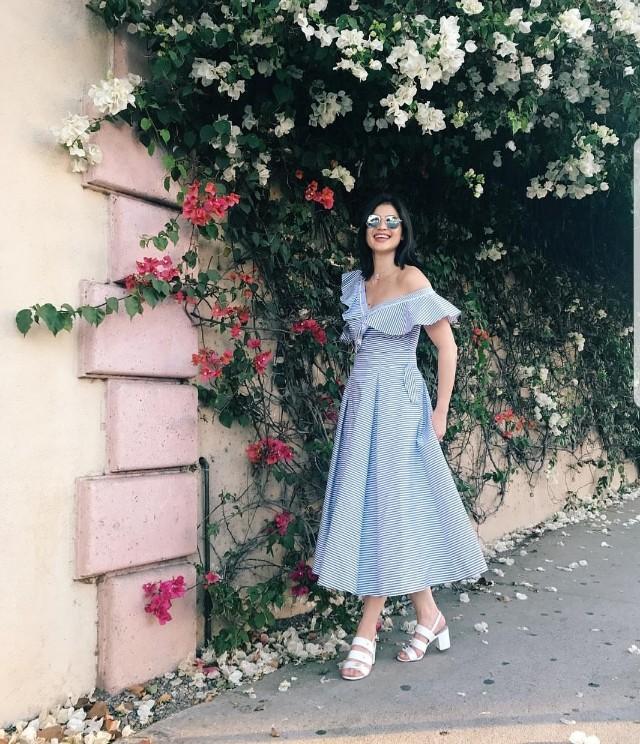 One-Sided Ruffle Hem Dress