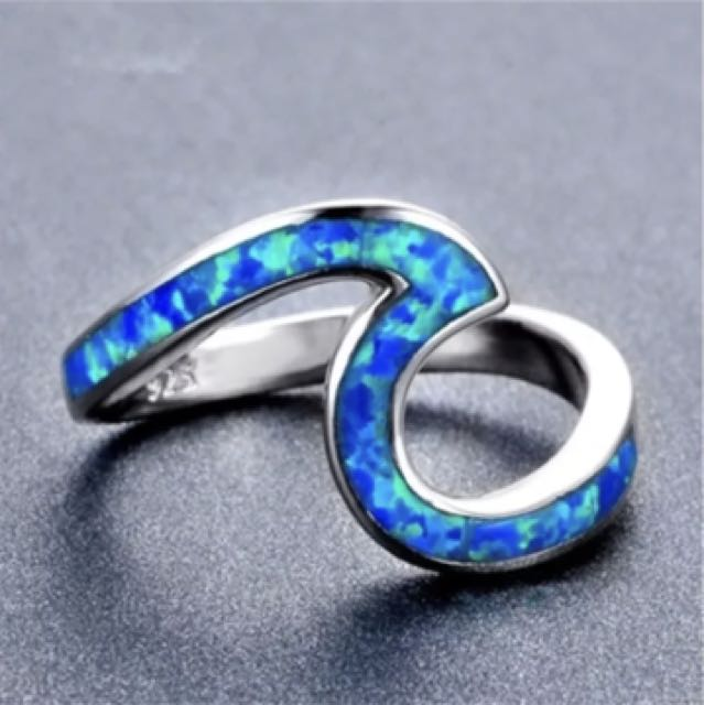 Opal Wave Ring size 7