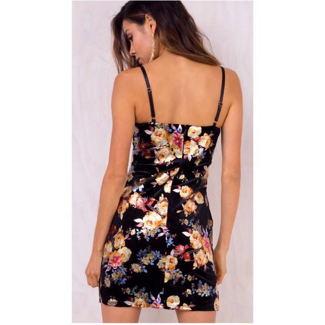 Oriental floral mini dress BNWT