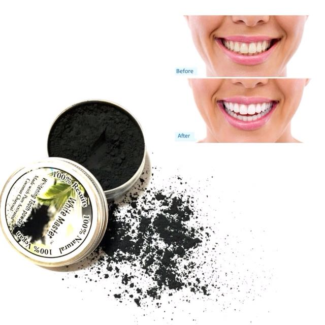 Pemutih Gigi Alami Aktif Bubuk Teeth Whitening Powder Coconut Charcoal, Health & Beauty, Perfumes, Nail Care, & Others on Carousell