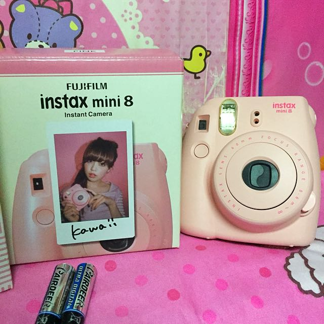 Pink Instax Mini 8 Complete Set
