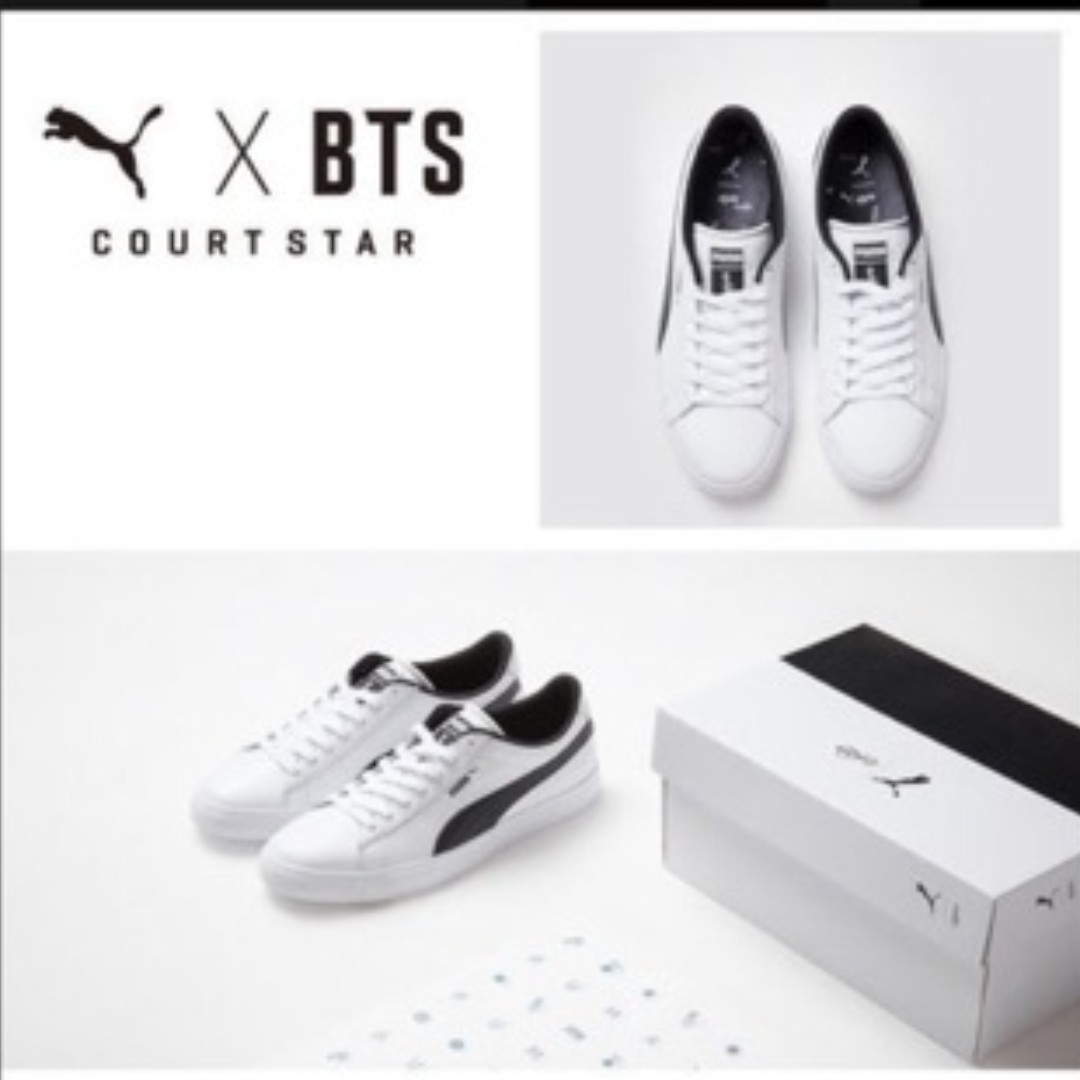 finest selection 6fc5c 3737b PO 1] BTS X PUMA Court Star, Entertainment, K-Wave on Carousell
