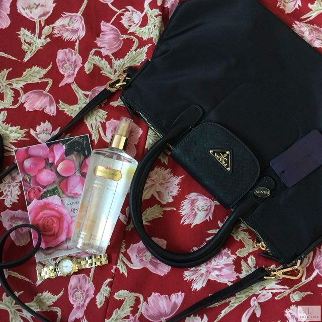 Prada Tessuto Saffiano Bag