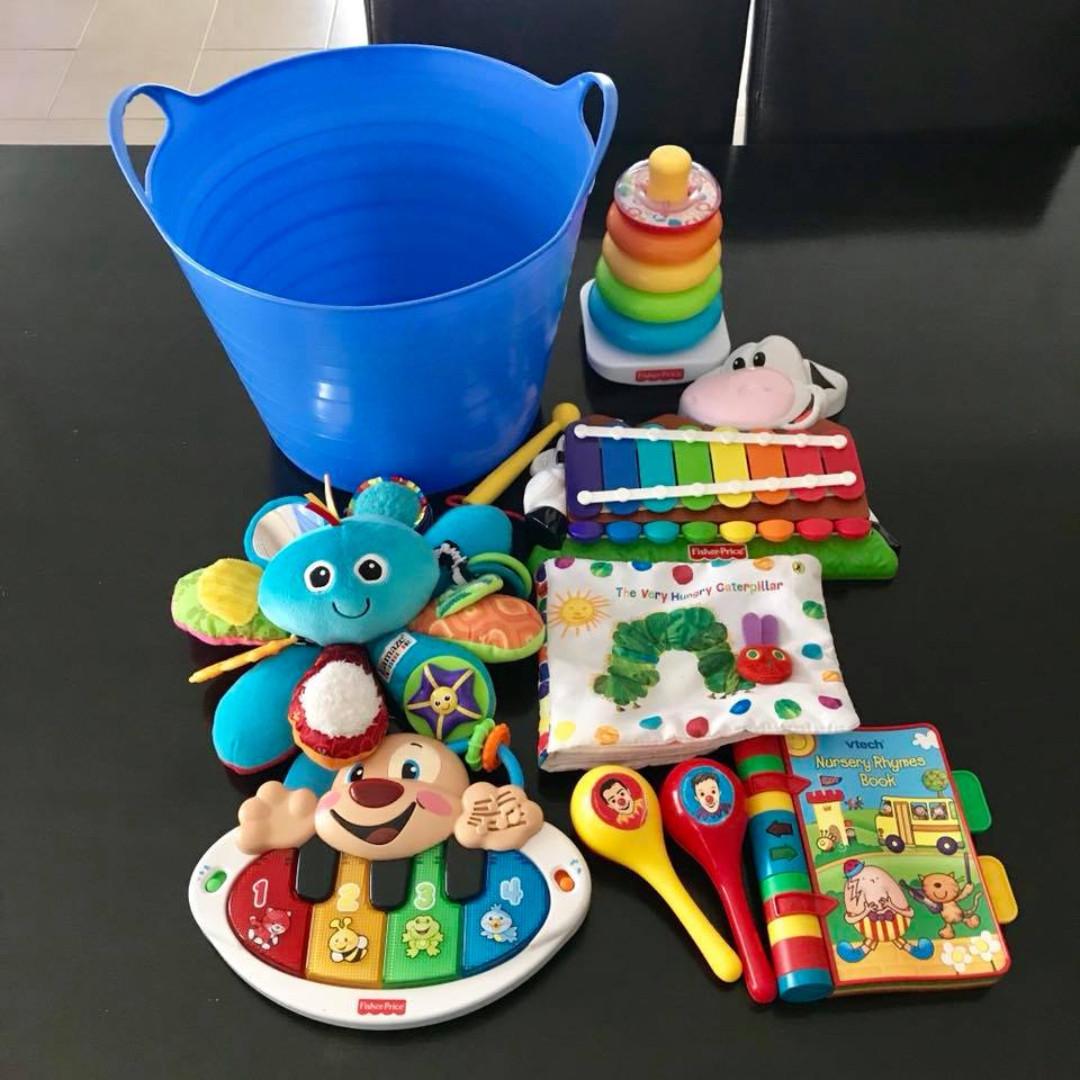 Preloved bulk buy Baby Toys and Flexi Tub